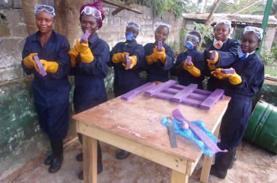 Soap trainees at Mineke Foundation
