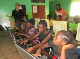 Computer class ongoing at Mineke Foundation